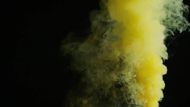 Violet Pink Smoke Bomb Black Background - Stock Video