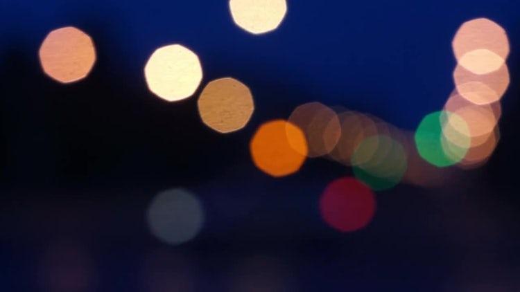Defocus light in Road: Stock Video