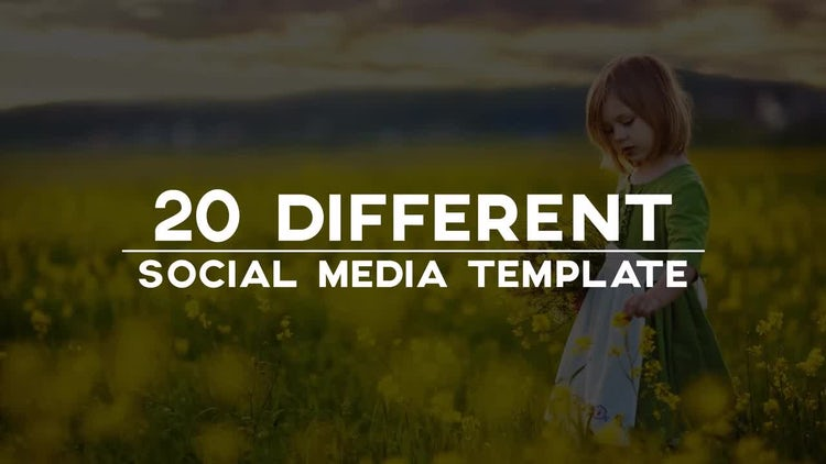 Clean Social Media Lower Thirds: After Effects Templates
