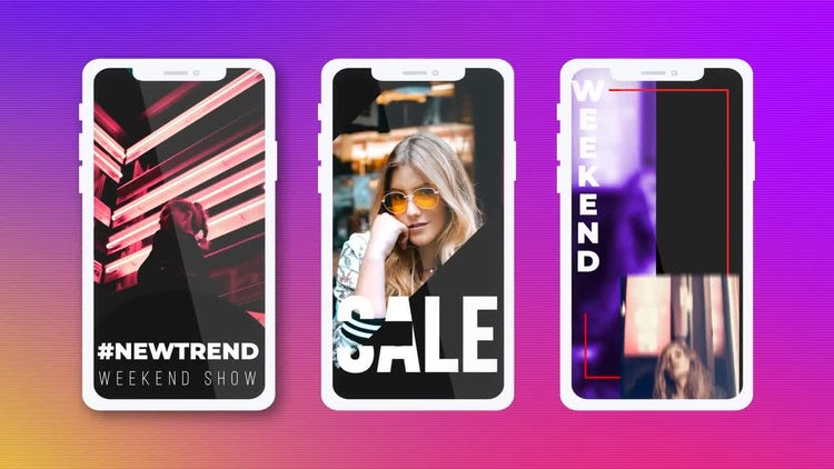 Clean Instagram Stories: After Effects Templates