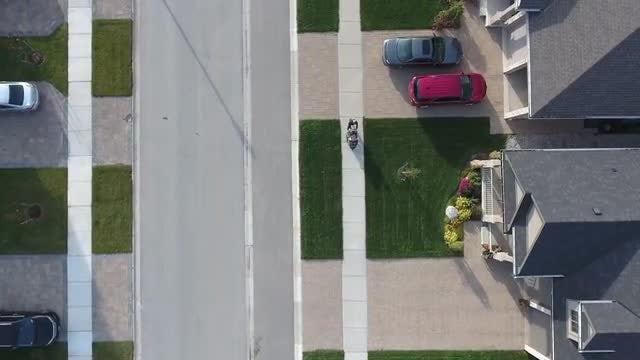 Flying Over Upscale Residential Neighborhood: Stock Video