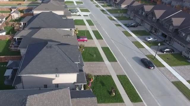Aerial Shot Of Upscale Neighborhood: Stock Video