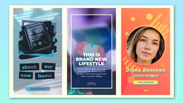 Creative Instagram Stories: After Effects Templates