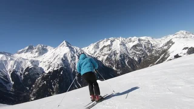 People Skiing On Snow Mountains: Stock Video