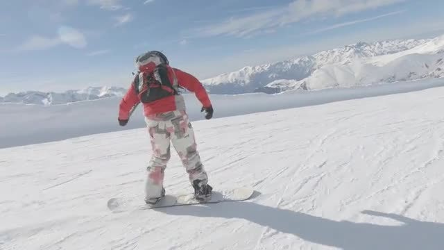 Snowboarders On A Slope: Stock Video