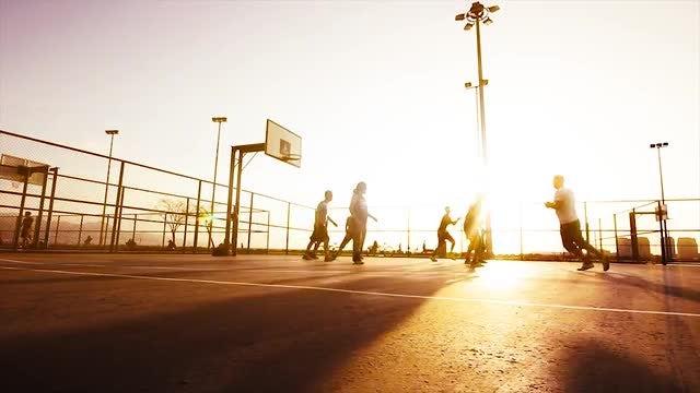 Basketball Match: Stock Video