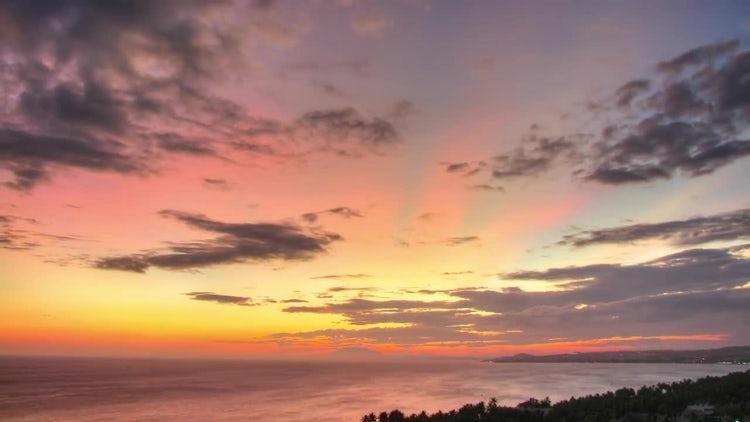 Amazing Sunset Time Lapse: Stock Video