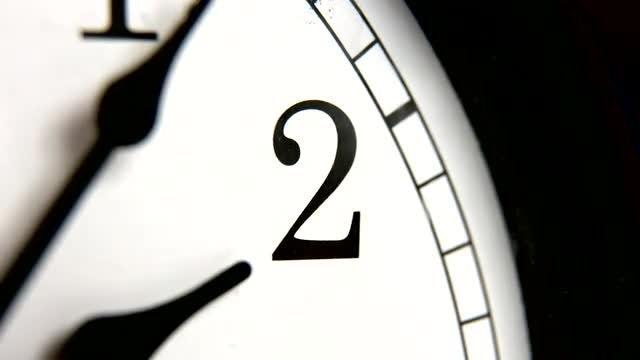 Close-up Shot Of Vintage Clock: Stock Video