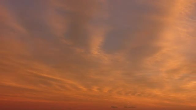 Sunset With Orange Red Clouds: Stock Video