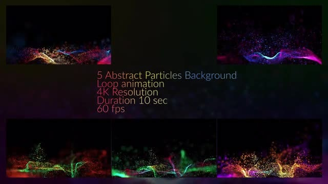 Particles In Waves Background Pack: Stock Motion Graphics