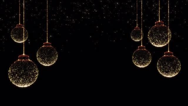 Elegant Christmas Background Images.Elegant Christmas Balls Background Stock Motion Graphics