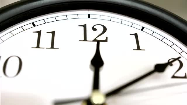 Time Lapse Of A Clock: Stock Video
