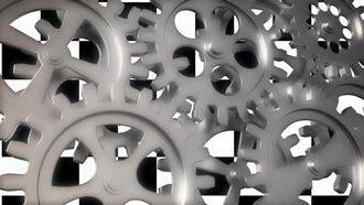 Shiny Gears Loop: Motion Graphics