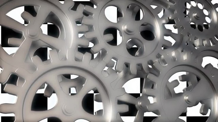 Shiny Gears Loop: Motion Graphics
