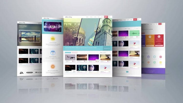 Elegant Website Display: After Effects Templates