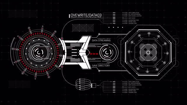 Rotary And Octagon HUD Interface: Stock Motion Graphics