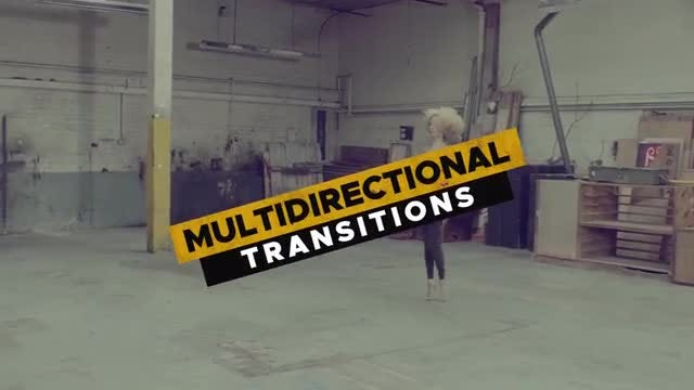 20 Multidirectional Transitions: Premiere Pro Templates