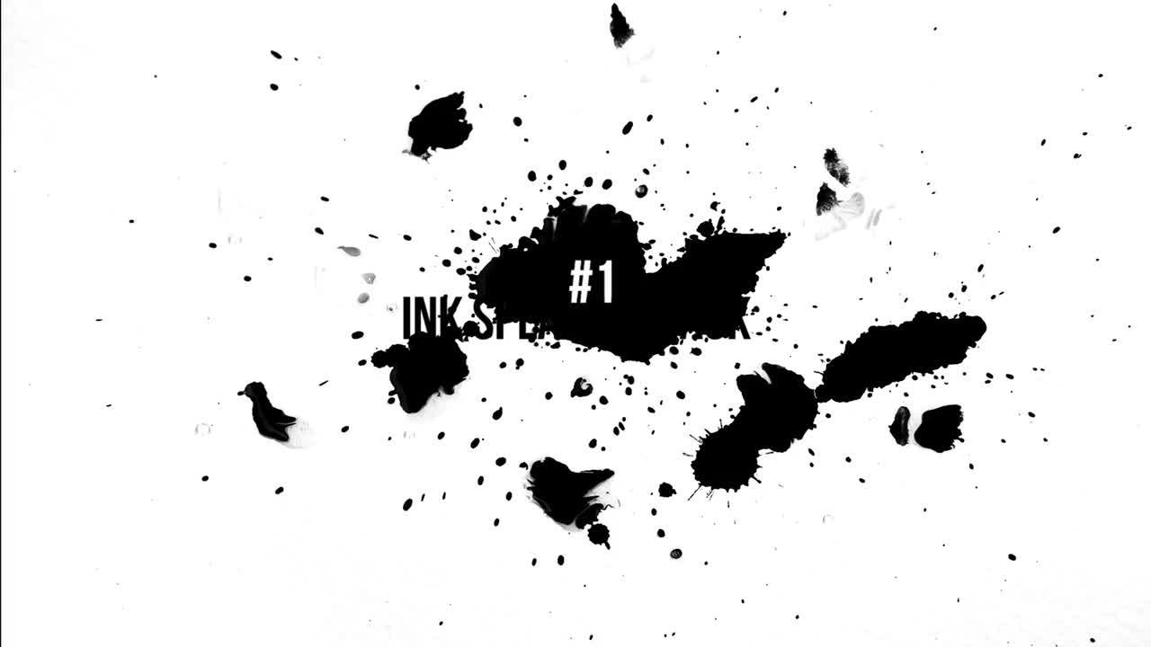 Ink Splatter Pack - Stock Video | Motion Array