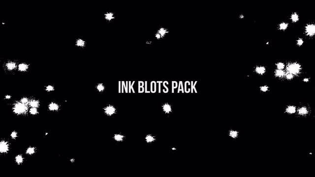 Ink Blots Pack: Stock Video