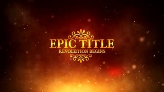Epic Title: After Effects Templates