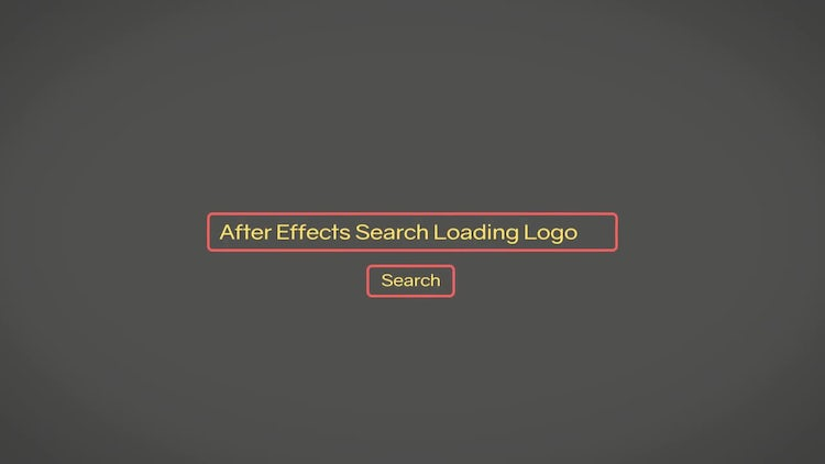 Search Loading Logo: After Effects Templates