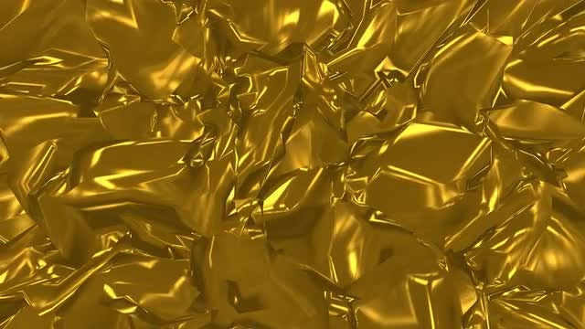 Golden Metal Background Animation: Stock Motion Graphics