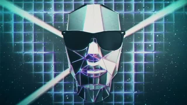 Retro Futuristic Heads VJ Loo: Stock Motion Graphics