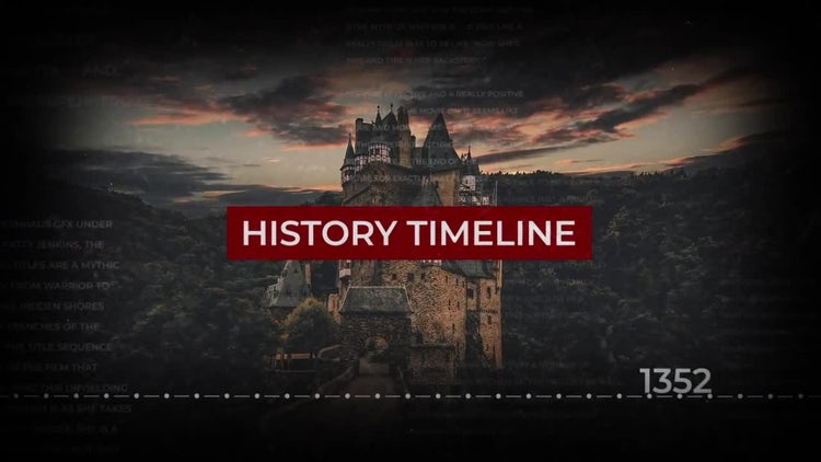 History Timeline Slideshow: After Effects Templates