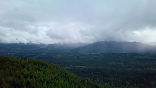 Aerial View Of Misty Mountains: Stock Video