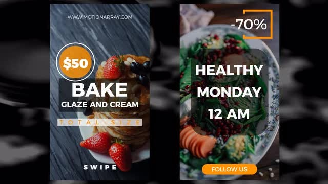 Instagram Food Stories: Motion Graphics Templates