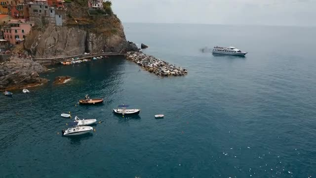 Hilly Island In The Mediterranean: Stock Video