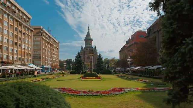 Dolly Shot Of Timisoara: Stock Video