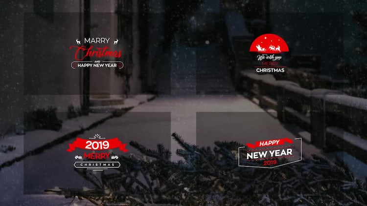 Christmas Titles 4k: After Effects Templates