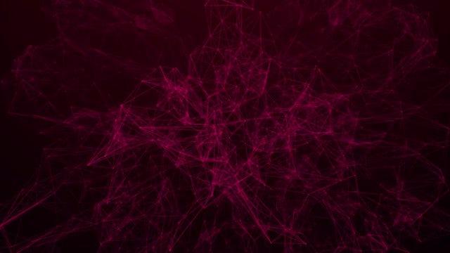 Red Plexus Background 4K: Stock Motion Graphics