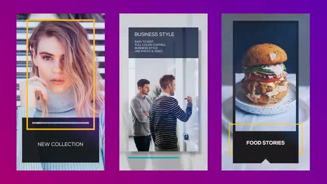 3 Minimal Instagram Stories: After Effects Templates