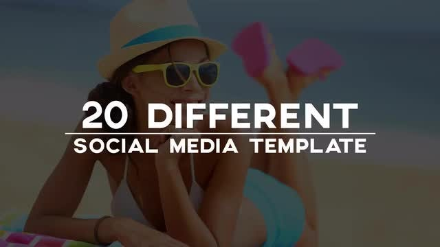20 Minimal Social Media Lower Thirds: After Effects Templates