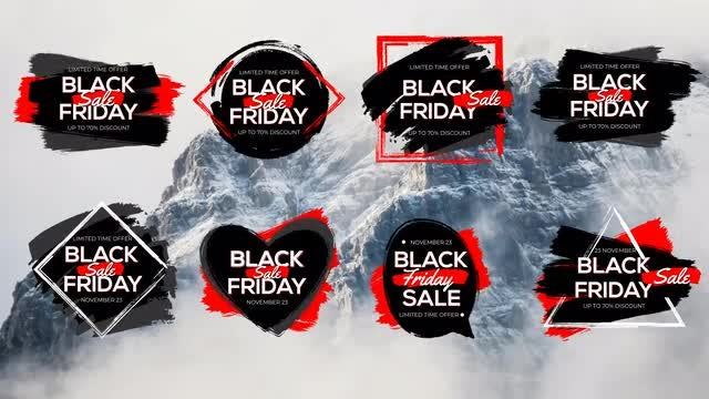 Black Friday Sale Titles: After Effects Templates