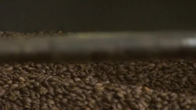Roasted Coffee Beans Being Rotated: Stock Video