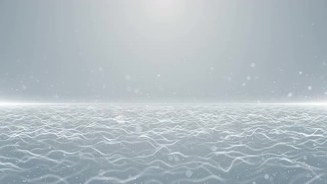 White Particles Horizon Background Loop: Stock Motion Graphics