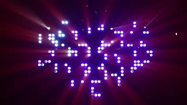 Shiny Disco Lights Flashing: Stock Video