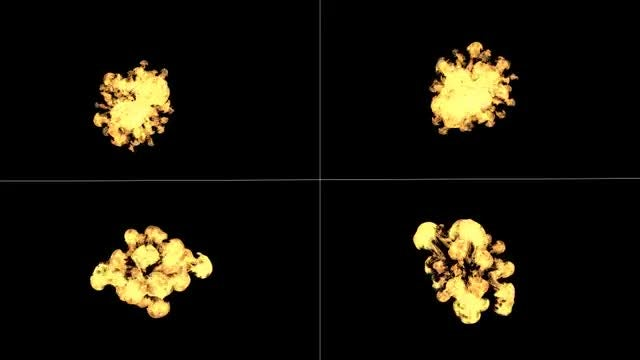 Small Explosions Pack: Stock Motion Graphics