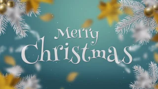 White & Gold Christmas Slideshow: After Effects Templates
