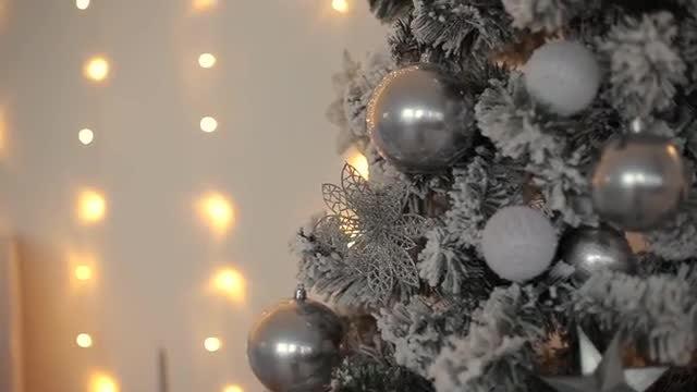 Silver Christmas Tree: Stock Video