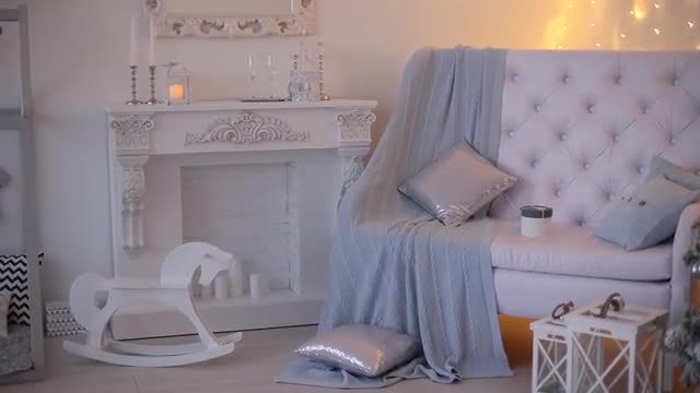 New Year's Festive Sitting Room: Stock Video