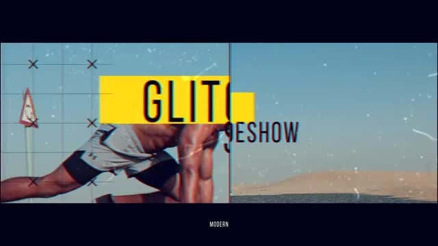 Modern Glitch Slide: After Effects Templates