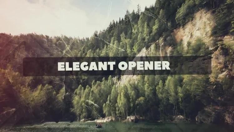 Elegant Opener: After Effects Templates