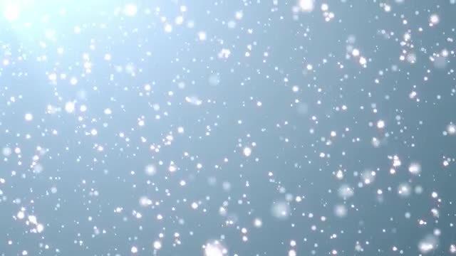 Glistening Snow: Stock Motion Graphics