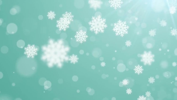 Falling Flakes: Stock Motion Graphics
