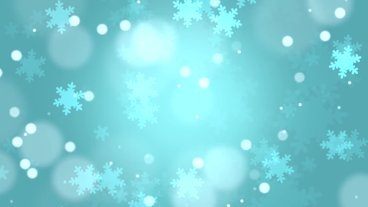 Christmas Snowflakes Blue Background - Stock Motion Graphics