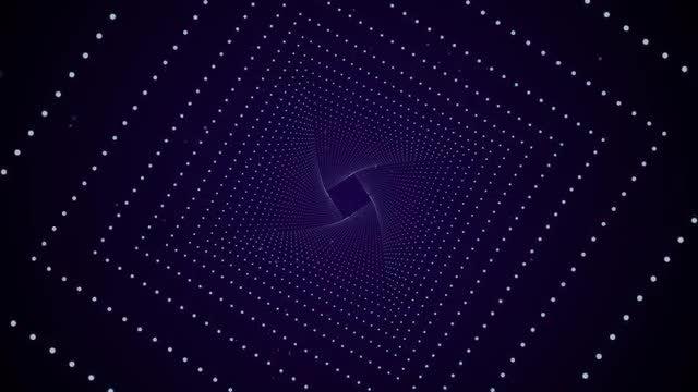 Diamond Outline Magic Tunnel: Stock Motion Graphics